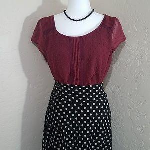Karina Flirty Polka Dot Skirt size S/M